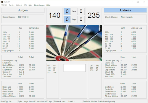 Darts app screenshot